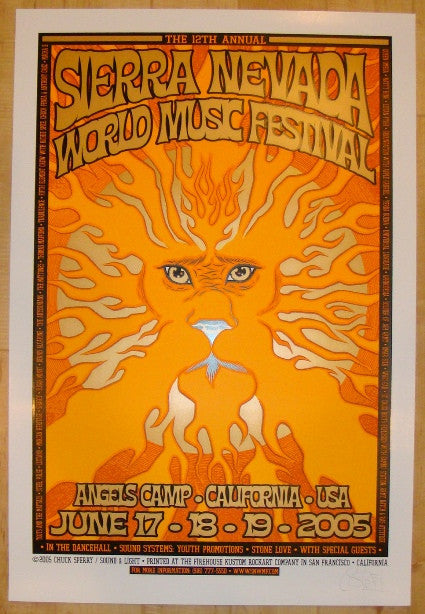 2005 Sierra Nevada World Music Festival Poster by Chuck Sperry