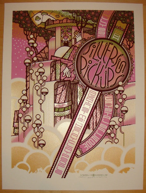 2010 Silversun Pickups - Portland Concert Poster by Guy Burwell