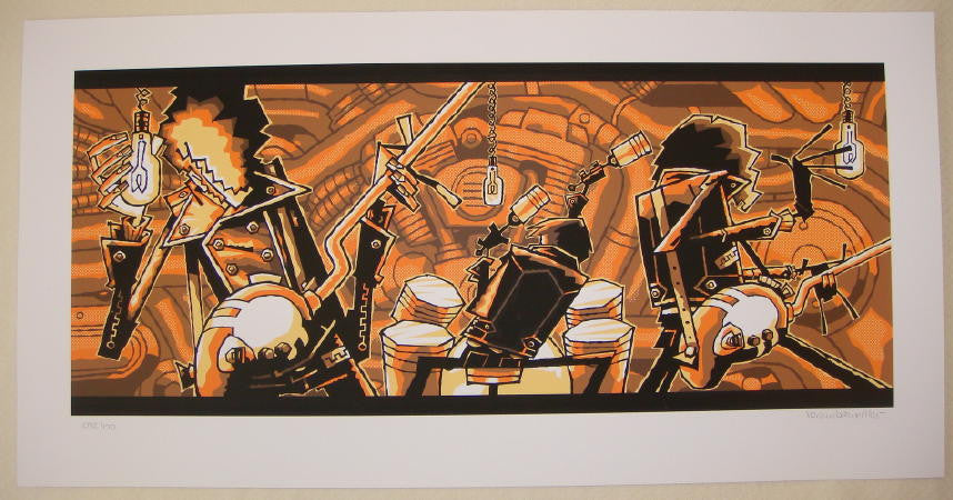 "2005 ""Six Barrel Shotgun"" Silkscreen Art Print by Guy Burwell"