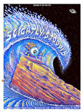 2016 Slightly Stoopid - Red Rocks Silkscreen Concert Poster by Emek