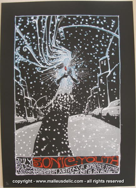 2007 Sonic Youth Silkscreen Concert Poster by Malleus