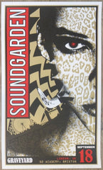 2013 Soundgarden - London I Silkscreen Concert Poster by Adam Pobiak