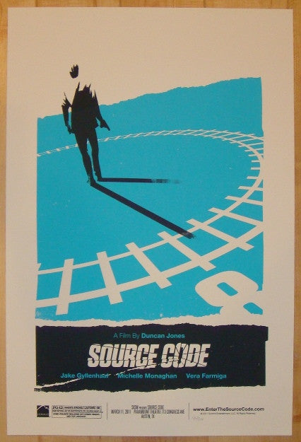 "2011 ""Source Code"" - Silkscreen Movie Poster by Olly Moss"