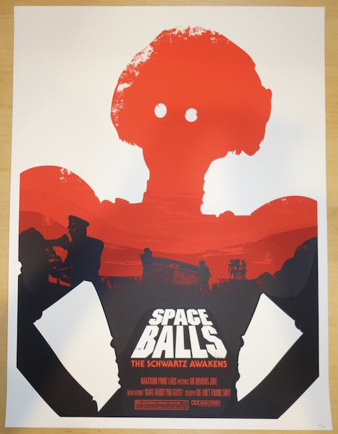 2015 Spaceballs I - Silkscreen Movie Poster by Joshua Budich