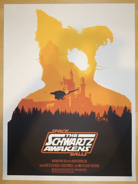 2015 Spaceballs II - Silkscreen Movie Poster by Joshua Budich