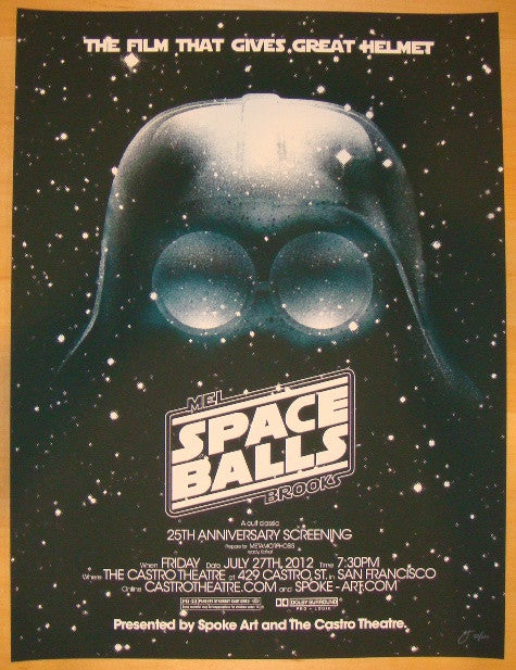 "2012 ""Space Balls"" - Movie Poster by Brandon Schaefer"