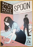 2010 Spoon - NYC Silkscreen Concert Poster by Casey Burns