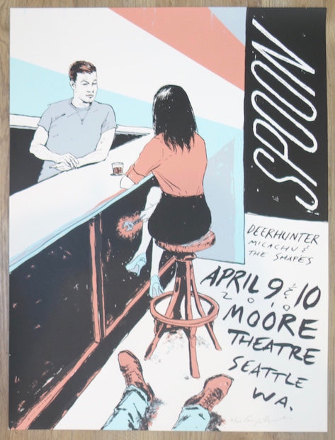 2010 Spoon - Seattle Silkscreen Concert Poster by Casey Burns