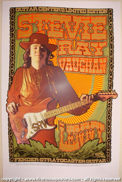 2008 stevie ray vaughan lenny silkscreen poster by sperry jojo 39 s posters. Black Bedroom Furniture Sets. Home Design Ideas