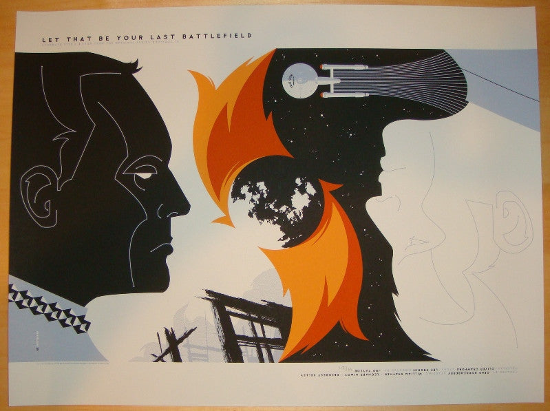 "2011 ""Star Trek"" - Your Last Battlefield Poster by Tom Whalen"