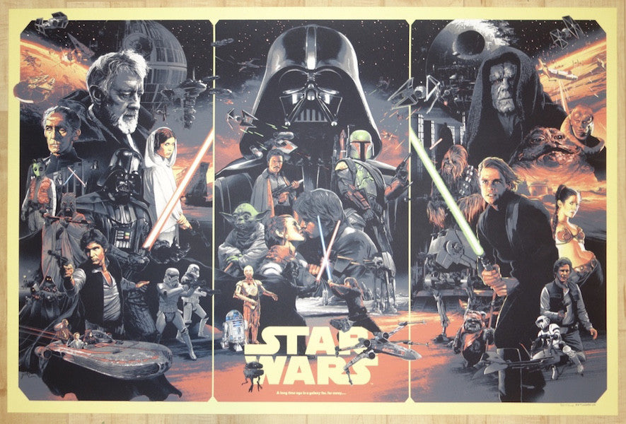 "2015 ""Star Wars"" - Silkscreen Movie Poster by Grzegorz Domaradzki"