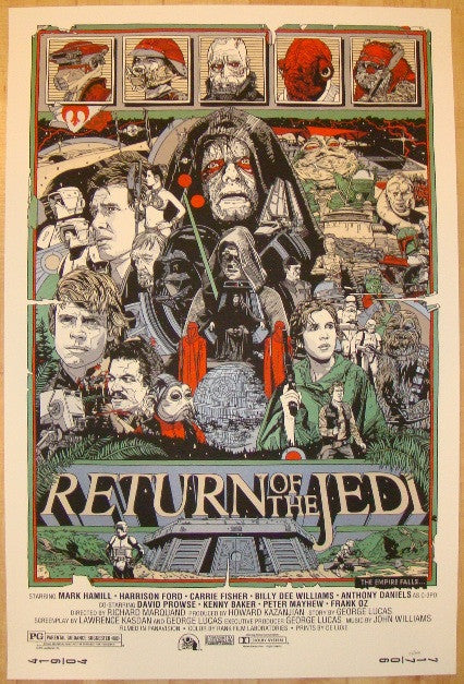 "2010 ""Return Of The Jedi"" - Movie Poster by Tyler Stout"