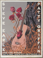 2019 Patty Griffin & Steve Earle - Austin Silkscreen Concert Poster by Neal Williams