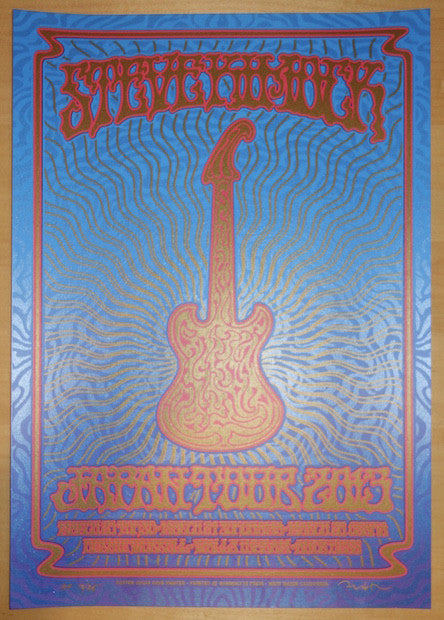 2013 Steve Kimock - Japan Tour Silkscreen Concert Poster by Dave Hunter