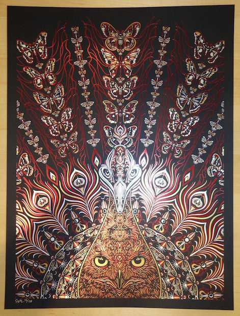 2015 Strange Attraction - Red Foil Stamped Lithograph Poster by Todd Slater
