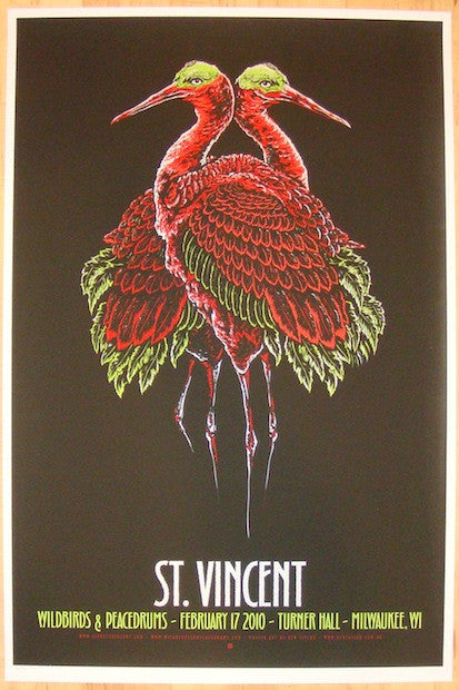 2010 St. Vincent - Milwaukee Variant Poster by Ken Taylor