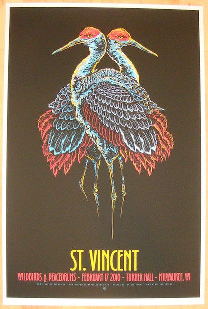 2010 St. Vincent - Milwaukee Concert Poster by Ken Taylor