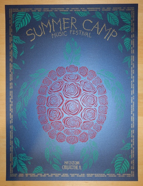 2014 Summer Camp - Blue Variant Concert Poster by Todd Slater