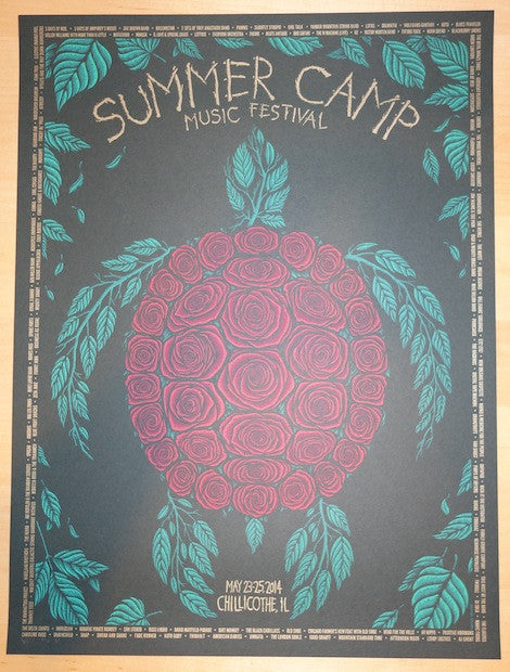 2014 Summer Camp - Silkscreen Concert Poster by Todd Slater