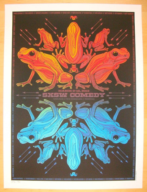 2013 SXSW - Comedy Showcase Silkscreen Poster by Todd Slater