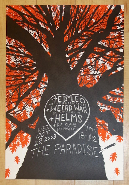 2003 Ted Leo & the Pharmacists - Boston Concert Poster by Dan McCarthy