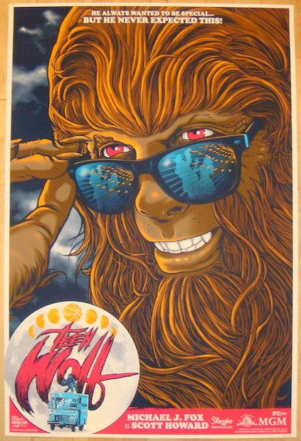 "2012 ""Teen Wolf"" - Silkscreen Movie Poster by Gary Pullin"