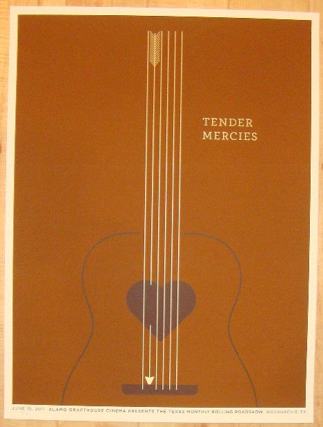 "2011 ""Tender Mercies"" - Silkscreen Movie Poster by Jason Munn"