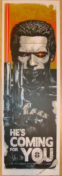 "2012 ""Terminator"" - Silkscreen Movie Poster by Rhys Cooper"