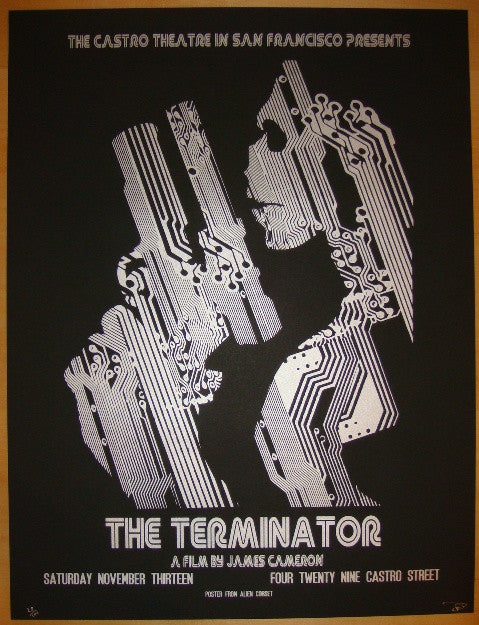 "2010 ""The Terminator"" - Silkscreen Movie Poster by O'Daniel"