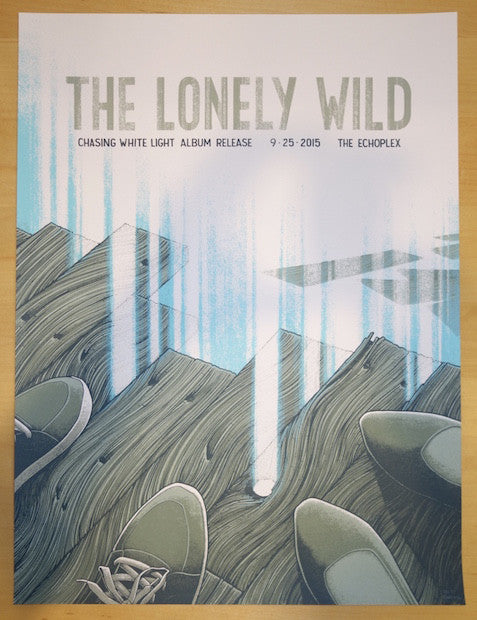 2015 The Lonely Wild - LA Silkscreen Concert Poster by Justin Santora