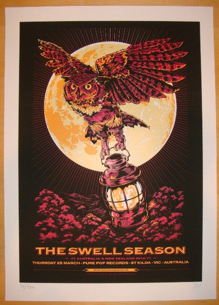 2010 The Swell Season - Silkscreen Concert Poster by Ken Taylor