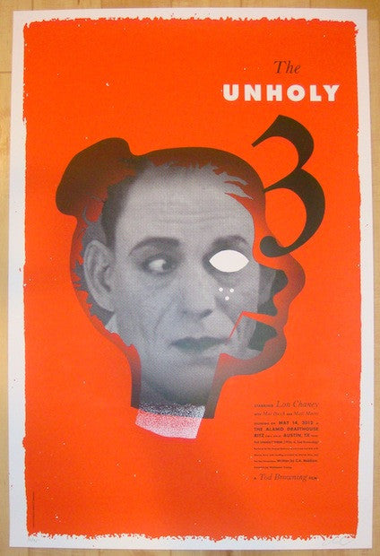 "2012 ""The Unholy Three"" - Silkscreen Movie Poster by Kleinsmith"