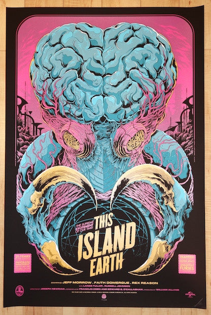 "2014 ""This Island Earth"" - Variant Movie Poster by Ken Taylor"