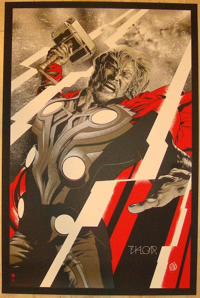 "2012 ""Thor"" - Silkscreen Movie Poster by Martin Ansin"