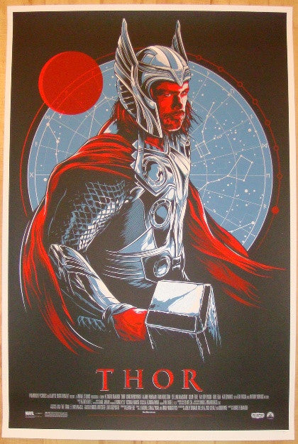 "2011 ""Thor"" - Silkscreen Movie Poster by Ken Taylor"