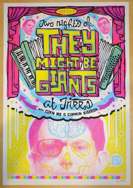 2004 They Might Be Giants - Dallas Silkscreen Concert Poster by Todd Slater
