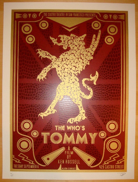 "2010 ""Tommy"" - Silkscreen Movie Poster by David O'Daniel"