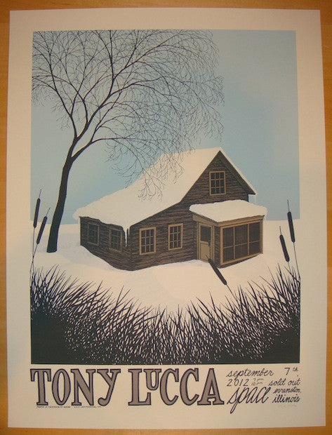 2012 Tony Lucca - Evanston Concert Poster by Justin Santora