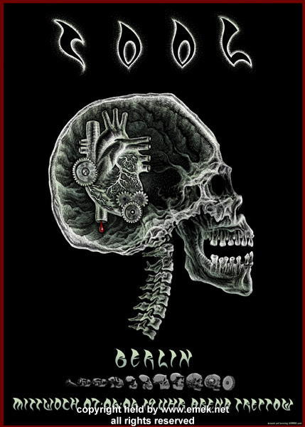2006 Tool in Berlin X-Ray Silkscreen Concert Poster by Emek
