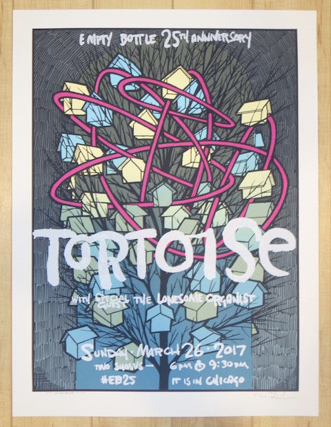 2017 Tortoise - Chicago Silkscreen Concert Poster by Jay Ryan