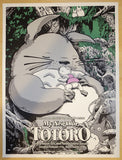 "2016 ""My Neighbor Totoro"" - English Variant Movie Poster by Joshua Budich"