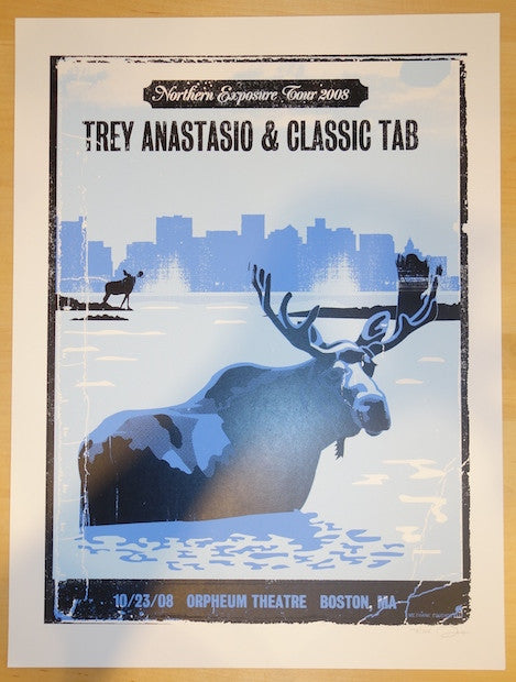 2008 Trey Anastasio - Boston Silkscreen Concert Poster by Methane