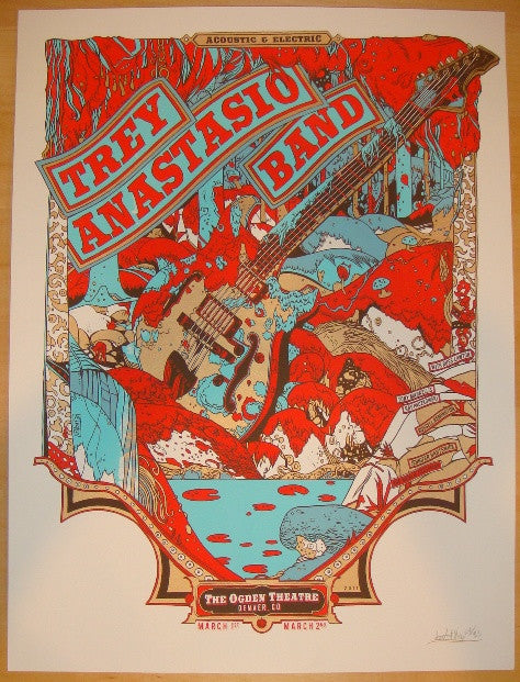 2011 Trey Anastasio Band - Denver Concert Poster by Tyler Stout