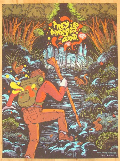 2012 Trey Anastasio - NYC Concert Poster by James Flames