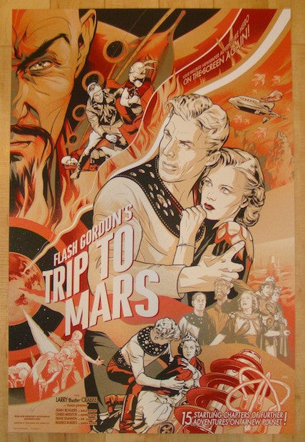 "2014 ""Flash Gordon's Trip To Mars"" - Variant Poster by Ansin"