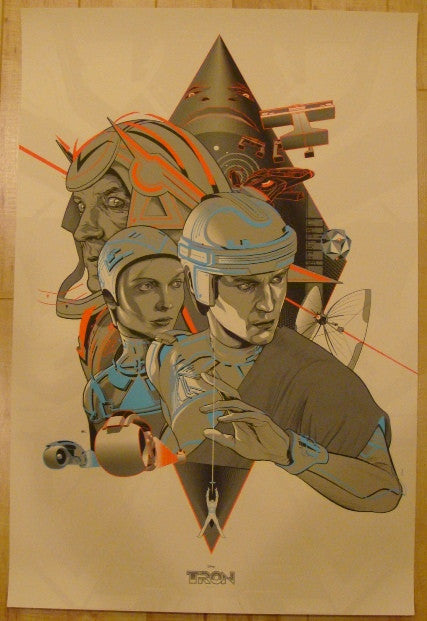 "2012 ""Tron"" - Silkscreen Movie Poster by Martin Ansin"