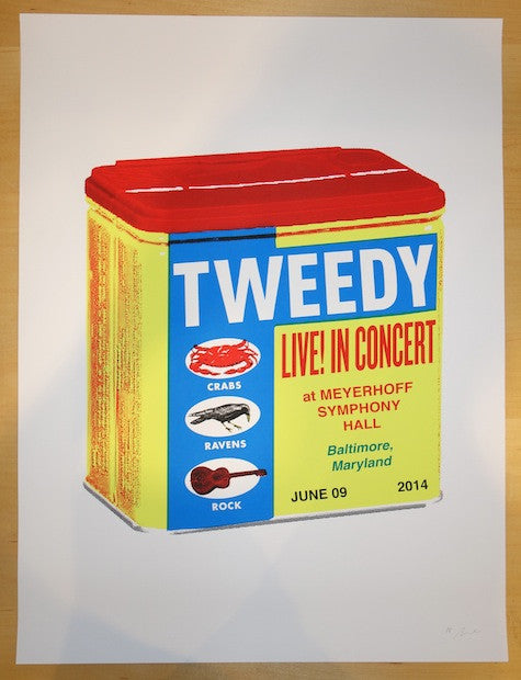 2014 Tweedy - Baltimore Concert Poster by Nate Duval
