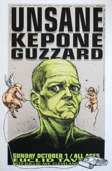 1995 Unsane & Kepone (95-29) Concert Poster by Derek Hess