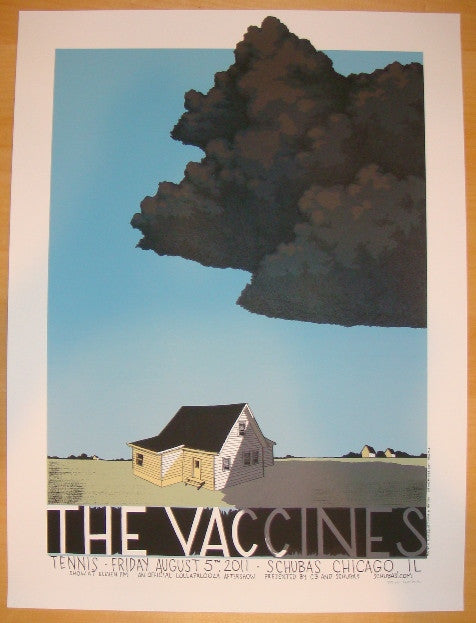 2011 The Vaccines - Chicago Silkscreen Concert Poster by Justin Santora