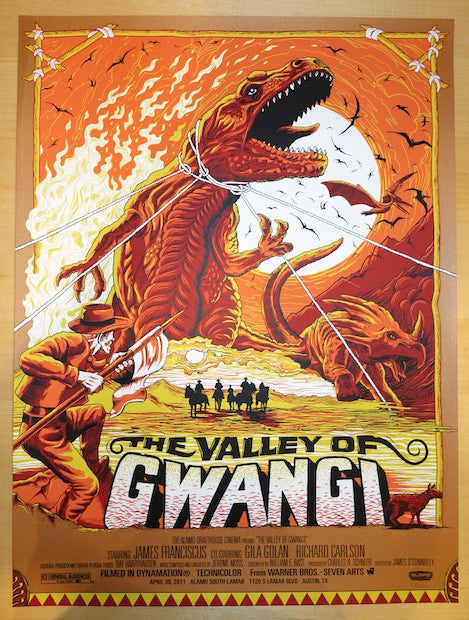 "2011 ""The Valley of Gwangi"" - Movie Poster by Mike Saputo"